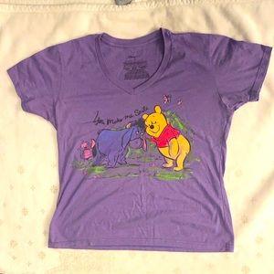 Disney Winnie & Eeyore Size XL Purple T-shirt